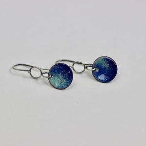 Sterling and Enamel Earrings