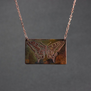 Etched Butterfly Necklace