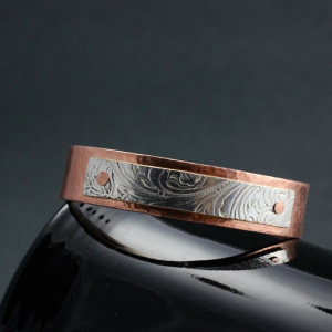Copper with Silver Plated Tray Cuff